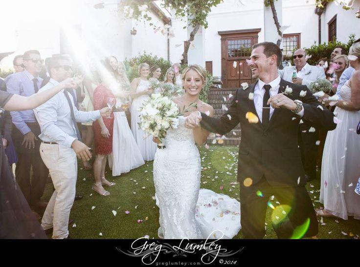The beautiful bride & groom at Vrede en Lust