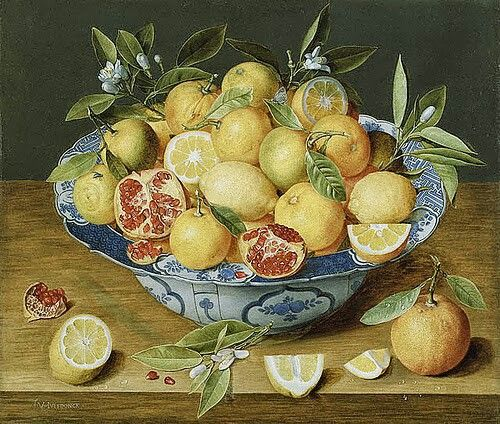 Citrons et grenades Giovanna Garzoni (1600 - 1670)
