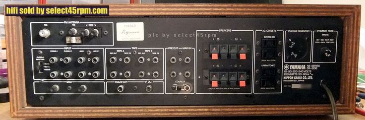 1973 YAMAHA CR-1000 RECEIVER **SOLD** - Vintage Hi Fi at select45rpm