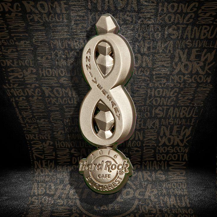 8th Anniversary Pin #pins #hardrockcafebucharest
