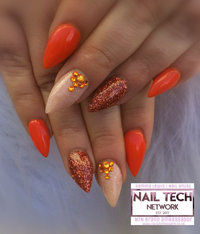 Autumn Nails Burnt Orange , Nailstyle