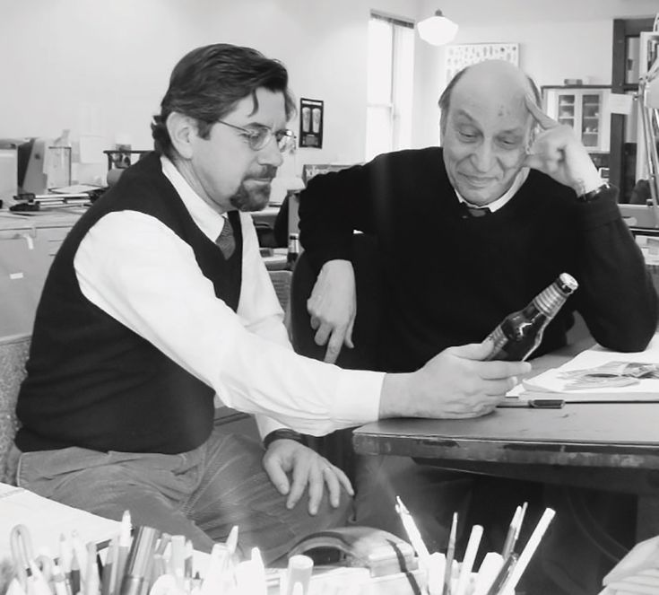 Brooklyn Brewry Co-Founder Steve Hindy and Designer Milton Glaser