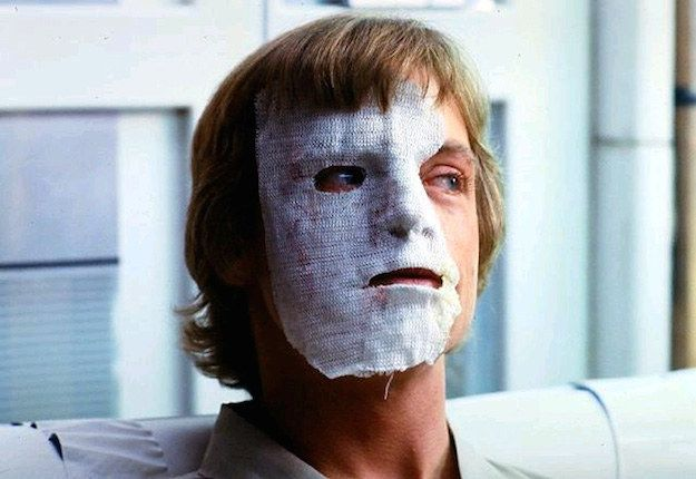 Mark Hamill was in a bad car accident before filming started on Star Wars: Episode V -The Empire Strikes Back, causing severe facial trauma. The scene in which Luke Skywalker is mauled by a Wampa was added to account for the scarring on his face.