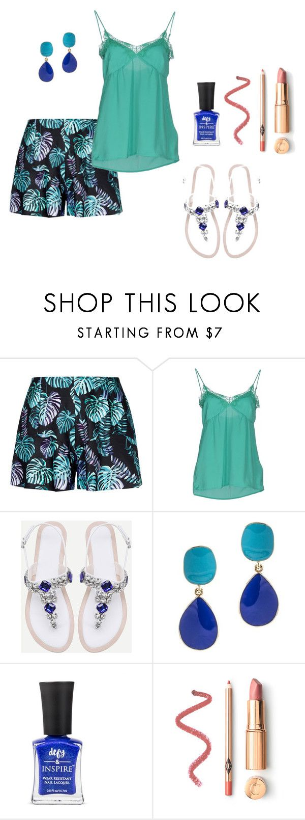 """Summer style"" by jessicaxx1988 on Polyvore featuring moda, LIU•JO, WithChic e Kenneth Jay Lane"