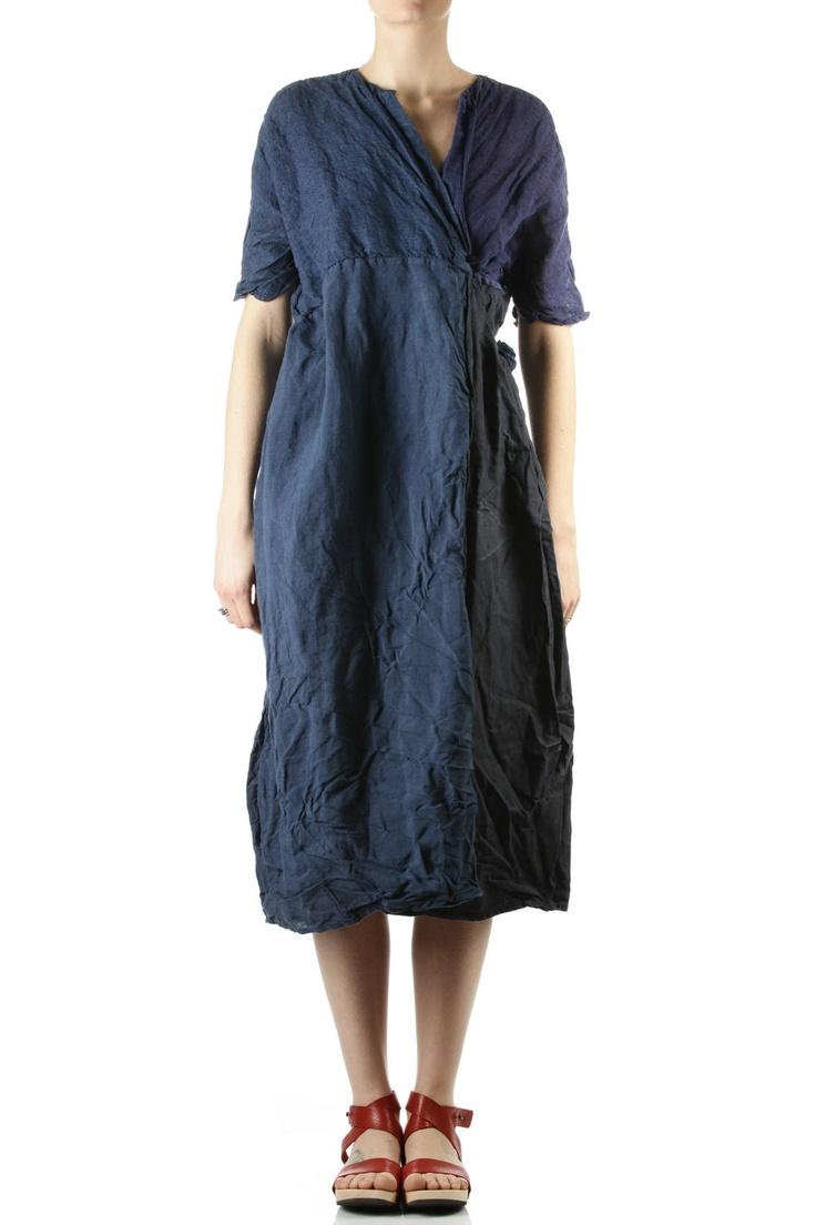 daniela gregis - four linen panels wide dress