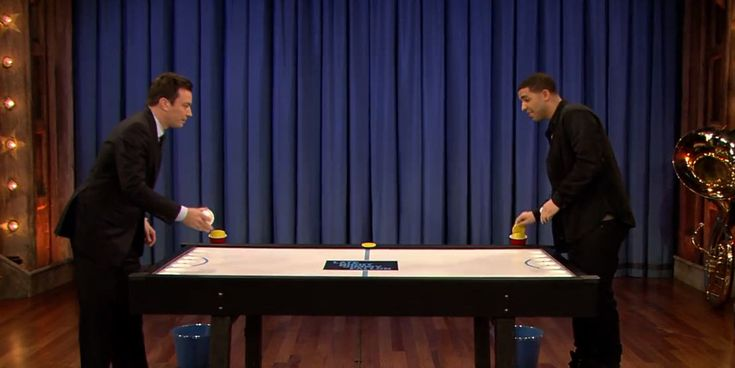 Watch Jimmy Fallon Play Beer Hockey With Drake [VIDEO]