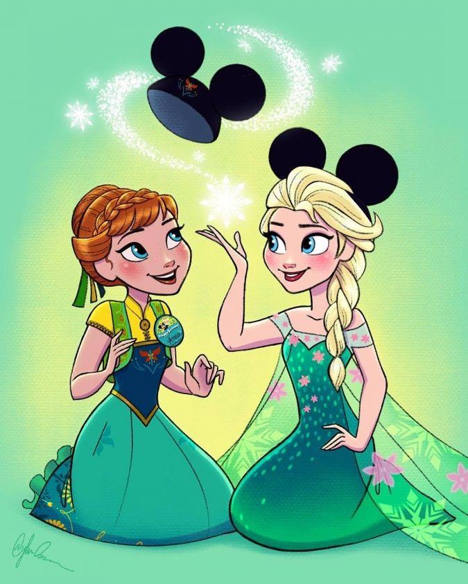 Тебя люблю, прикольные картинки принцесс диснея с ушками микки мауса