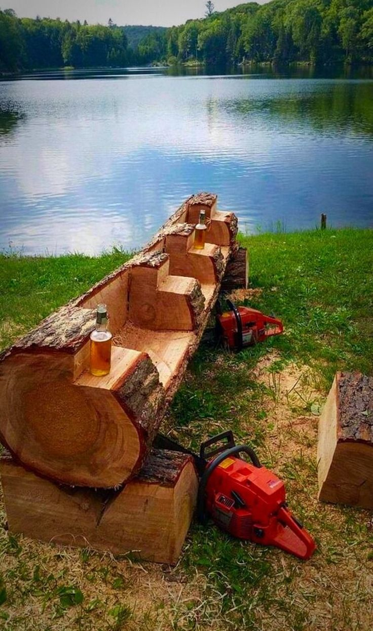 Log furniture, Garden furniture, Furniture, Backyard landscaping, Diy backyard, Rustic furniture - Mostly sfw, most pics are not mine  Pics of things or people I find interesting or attractive in any  -  #Logfurniture