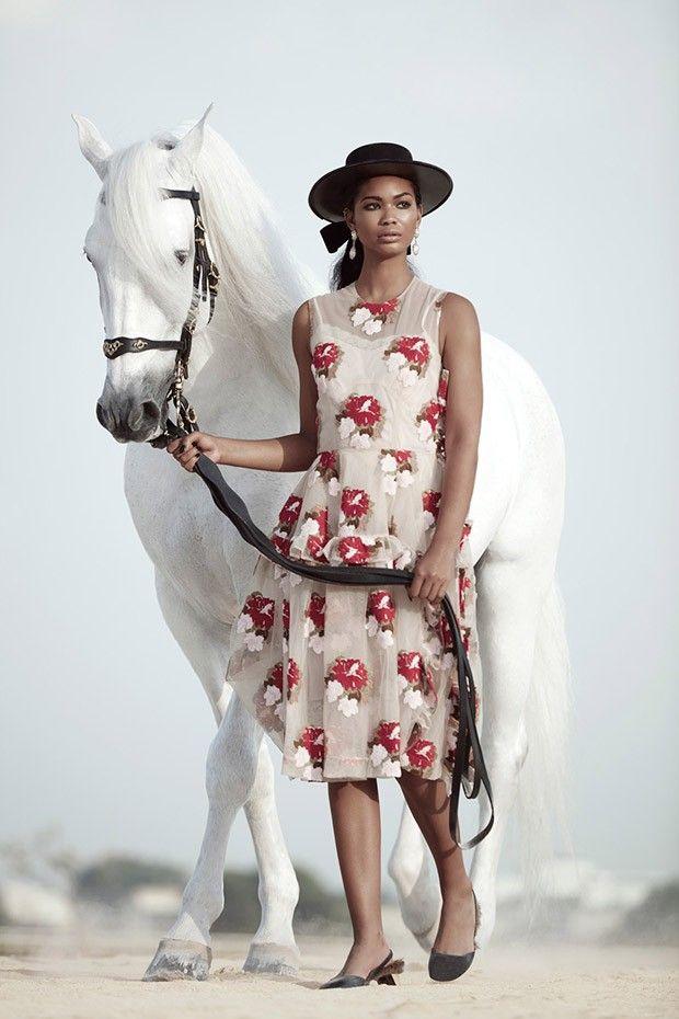 Chanel Iman by Silja Magg for Harper's Bazaar Arabia November 2015
