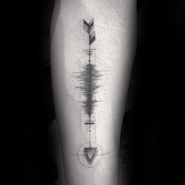 30 Soundwave Tattoo Designs für Männer – Acoustic Ink Ideen