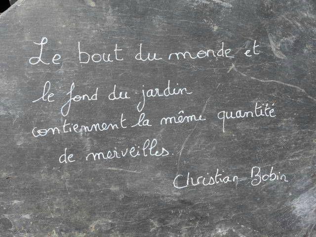 Jardin Monde, Christian BOBIN