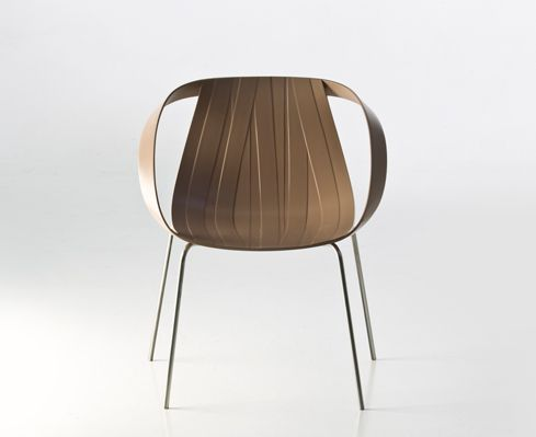 Impossible Wood light brown, design Doshi Levien for Moroso.