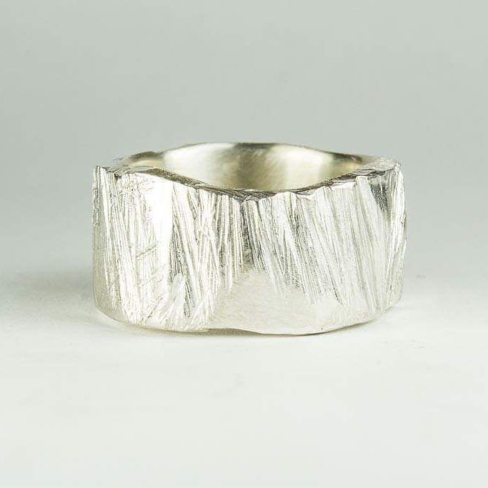 A super wide hand carved ring for Fiona.   #texture #sterlingsilver #handmade #specialrequest #silver #ring