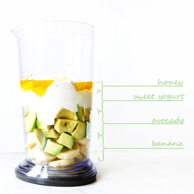 Sunday Smoothie: Avocado and Banana | http://www.macted.ro/sunday-smoothie-avocado-banana/