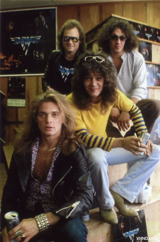 Van Halen , rare photo of Van Halen, making an in-store appearance at a record store in 1978