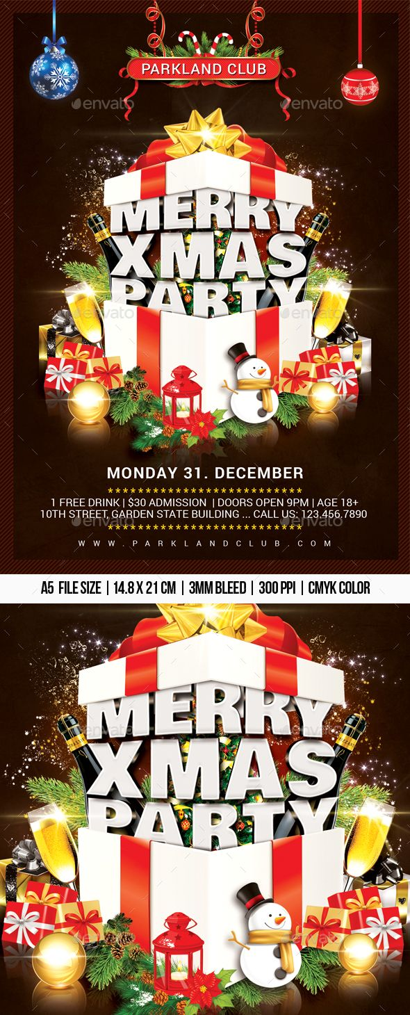 Merry Xmas Party Professional Club Party Flyer Template Flyer Design Printdesign Party Club Print Bar Christmas Christmas Merry Xmas Xmas Party Xmas