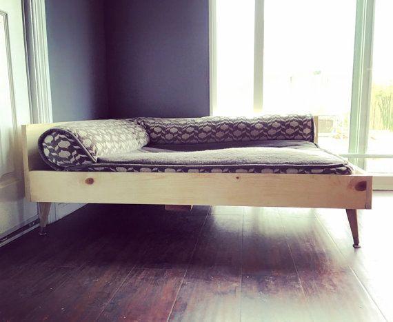 Wood Dog Bed midcentury modern vintage style pet by CreatingMatter