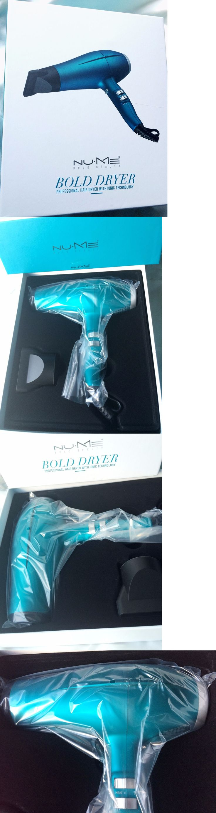 Hair Dryers: Nume Bold Professional Hair Dryer With Ionic Technology, Turquoise ~ Us 125V New -> BUY IT NOW ONLY: $79.99 on eBay!