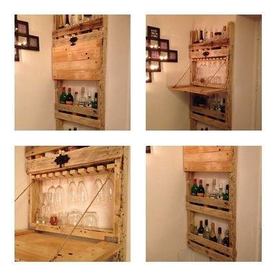 meuble bar palette diy. Black Bedroom Furniture Sets. Home Design Ideas