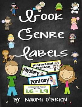 Need a way to keep your classroom library organized? I have plastic book bins that I attach these labels to, so that the students can see the different genres, topics, and A.R. levels, and learn about different types of books.If you have my supply labels freebie that I offer, these are a perfect match!Genres Include:MysteryFantasyNonfictionFictionInformationalScience FictionRealistic FictionTraditional LiteratureHorrorBiographyFairy TaleAutobiographyFolktalePoetryHistorical FictionFableTall…