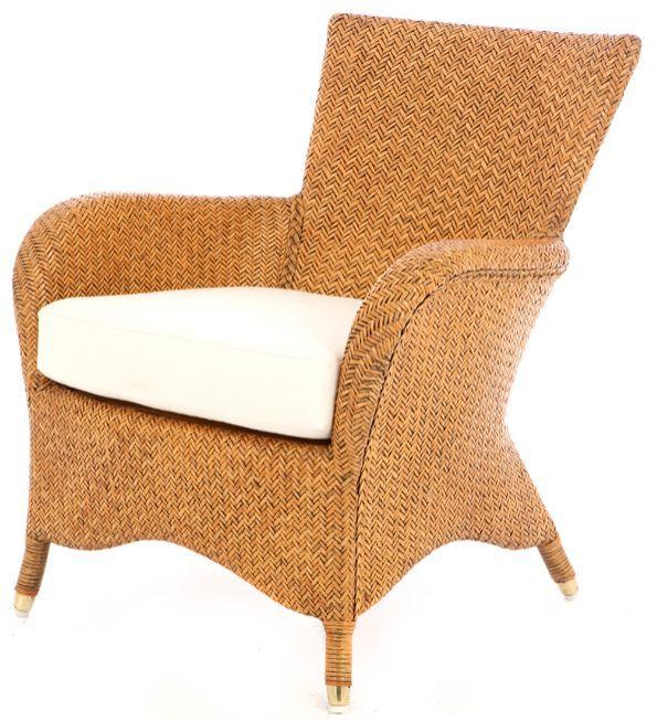 Fauteuil Aphrodtie antiek look - Rieten fauteuils