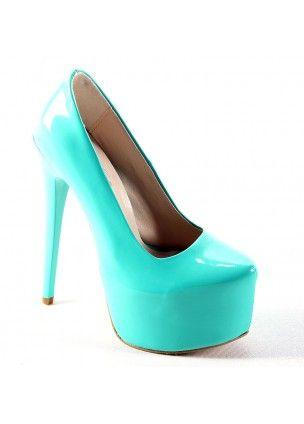 Yeşil Rugan Yüksek Topuklu Ayakkabı