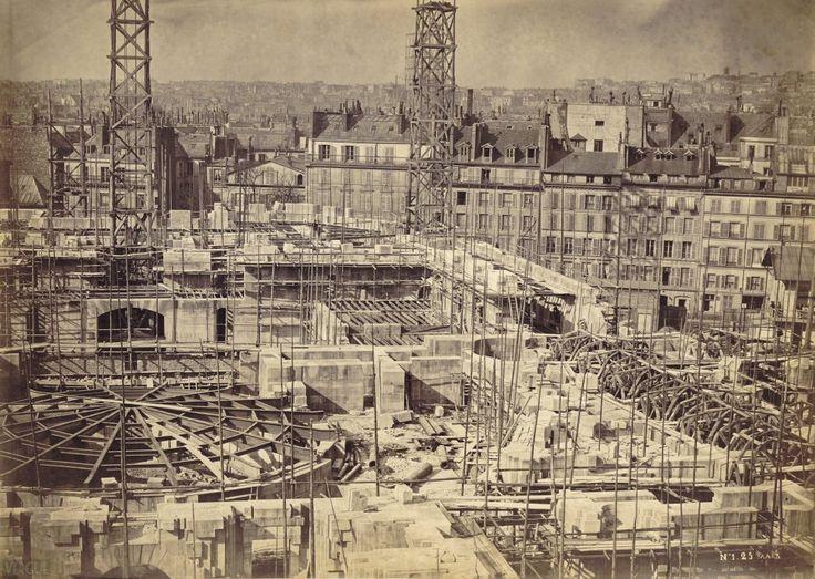 Louis-Émile Durandelle (1839-1917) : Construction de l'Opéra. Paris IXe. 25 mars 1864.
