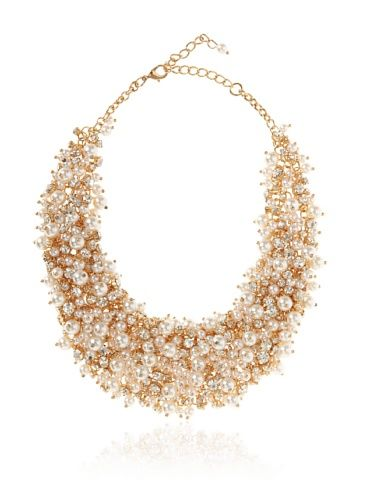"""www.myhabit.com  Faux pearls and lustrous crystals cluster together creating an eye-catching design; 3"""" extender"""