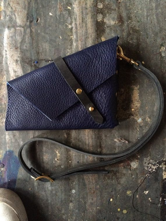 Holster clutch in indigo by fluxproductions on Etsy