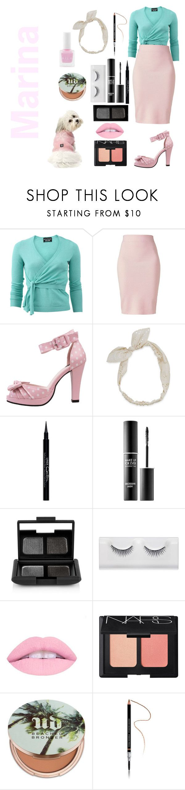 """""""Marina and the diamonds"""" by moonlight2004 ❤ liked on Polyvore featuring Boutique Moschino, Winser London, T.U.K., Carole, Givenchy, MAKE UP FOR EVER, NARS Cosmetics and Urban Decay"""