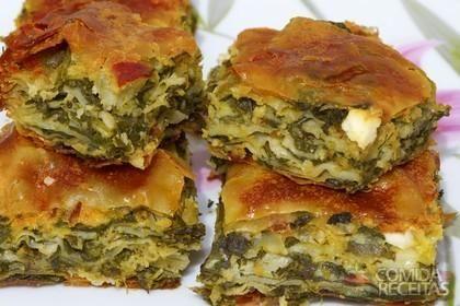 Receita de Torta de escarola com requeijão em receitas de tortas salgadas, veja essa e outras receitas aqui!