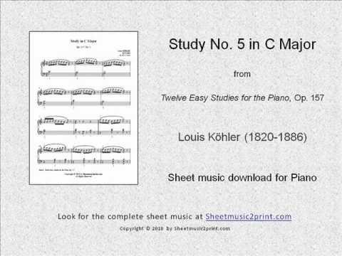 "Köhler : Study in C Major, Op. 157, No. 5  From ""Twelve Easy Studies for the Piano"", Op. 157 www.sheetmusic2print.com/Kohler/Study-157-5.aspx"