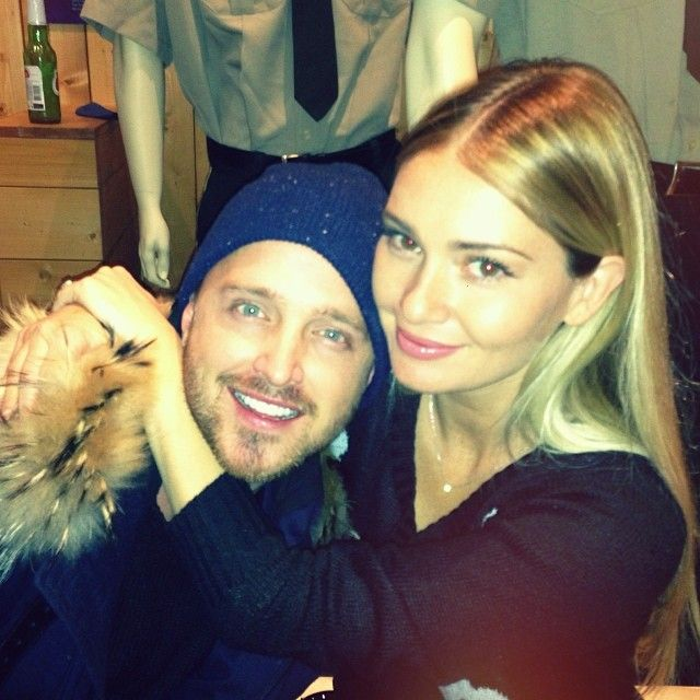 Aaron Paul and Lauren ...