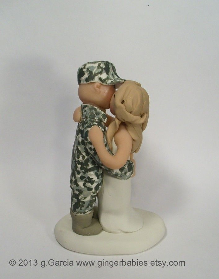Custom Army Wedding Cake Topper Military Toppers Gingerbabies