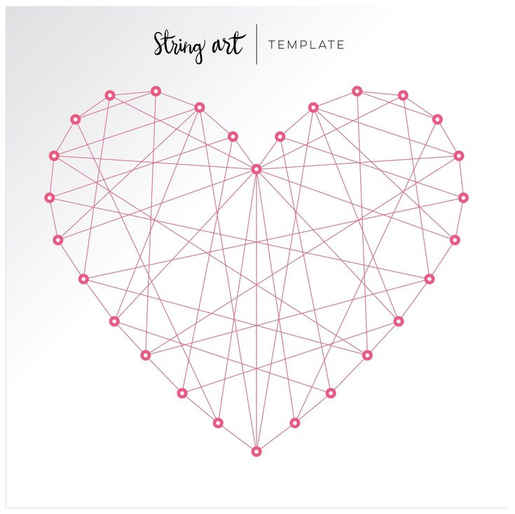 Heart String Art Template by Chris and Paige: December 2015