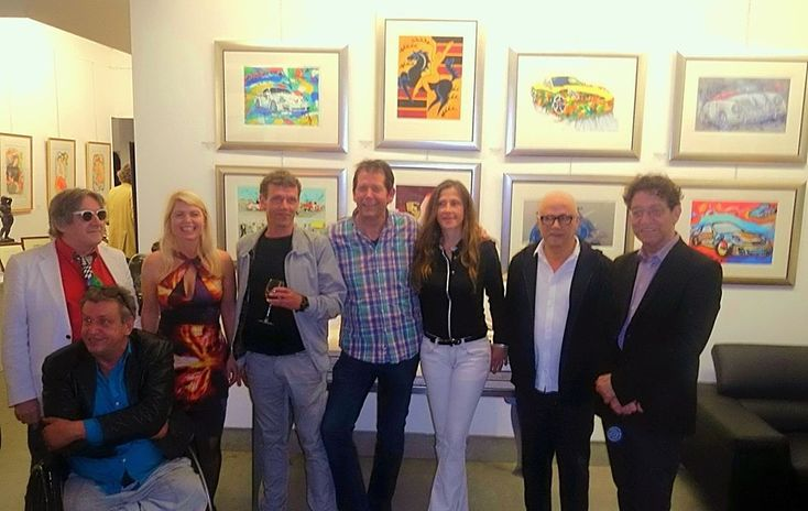 Maison des arts, galerie Bergen NH 2014 Met Rob Scholte, Peter Diem, Theo van den Boogaard