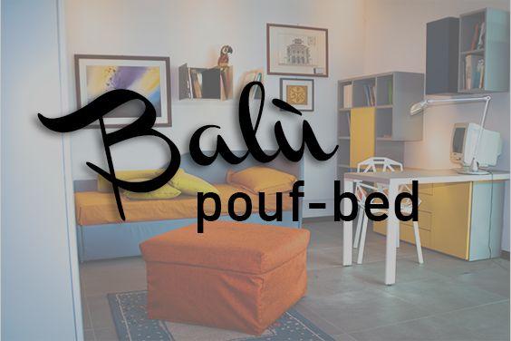 The #Balù Pouf/Bed, an original product by #CiatDesign