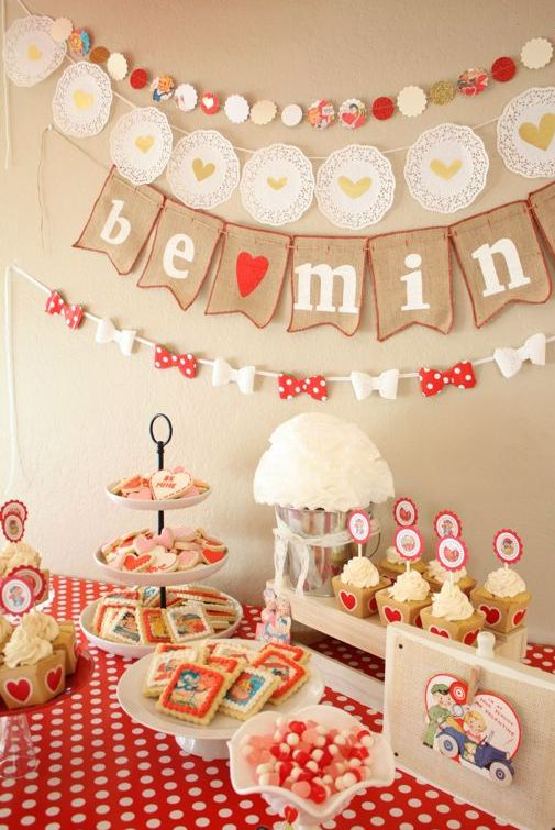 valentines day party ideas for kids // retro valentines party decoration ideas #…
