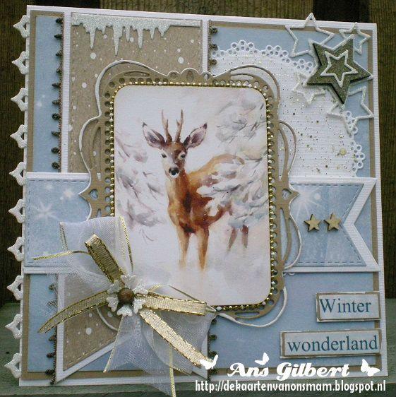 Hallo Allemaal,   Vandaag de laatste kaart die ik maakte voor dit jaar, nr.66 met het mooie papier van ScrapBerry's Winter Wonderland ook ...