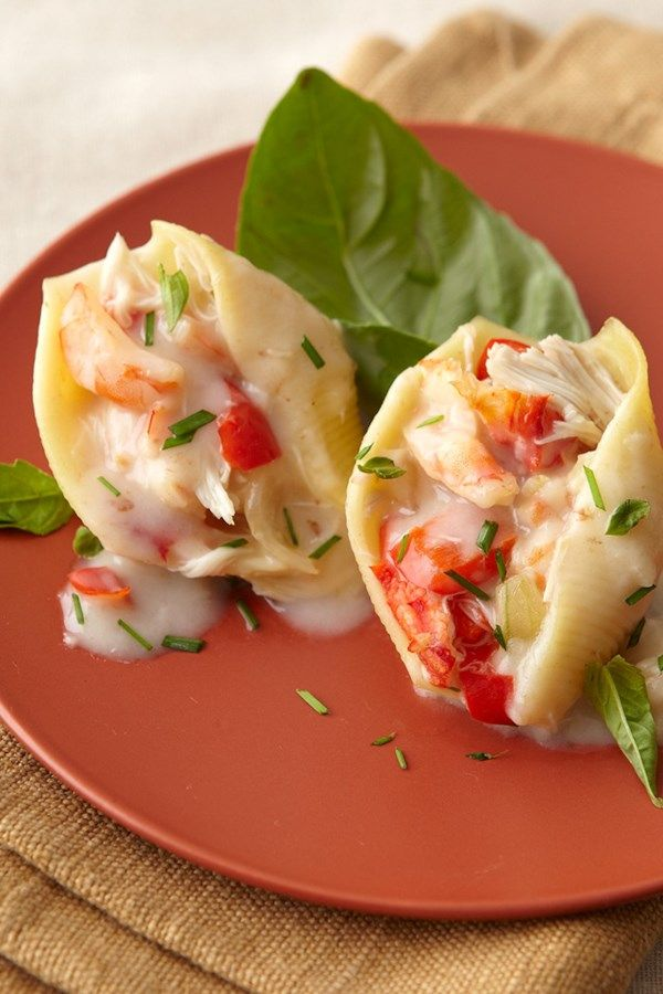 Shrimp Stuffed Pasta Shells Recipe In 2019 Valentine S Day
