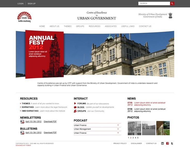 Indian Institute of Management Bangalore (Alumni) Web UI Design by Fomaxtech creative team