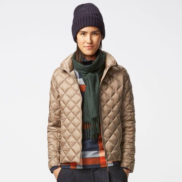 UNIQLO Women Ultra Light Down Quilted Jacket ($70) ❤ liked on Polyvore featuring outerwear, jackets, lined parka jacket, uniqlo, lined parka, parka jacket and white jacket