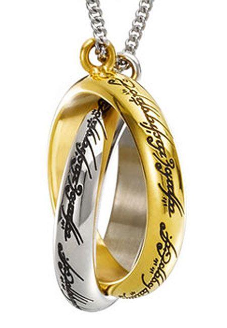 Colgante anillos entrelazados. The Hobbit. Noble Collection