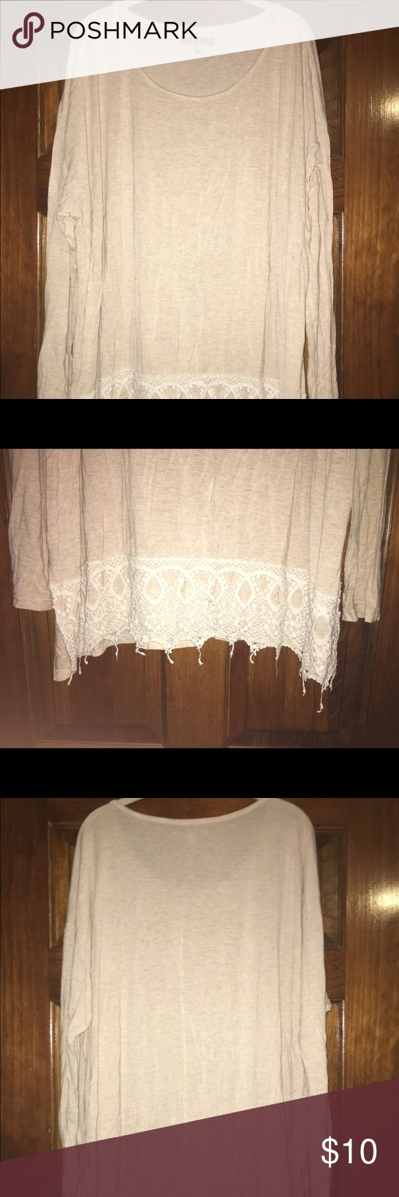 Lace Detail Top Super comfy and cute! The lace detail at the bottom really makes the top. Marshalls Tops Blouses