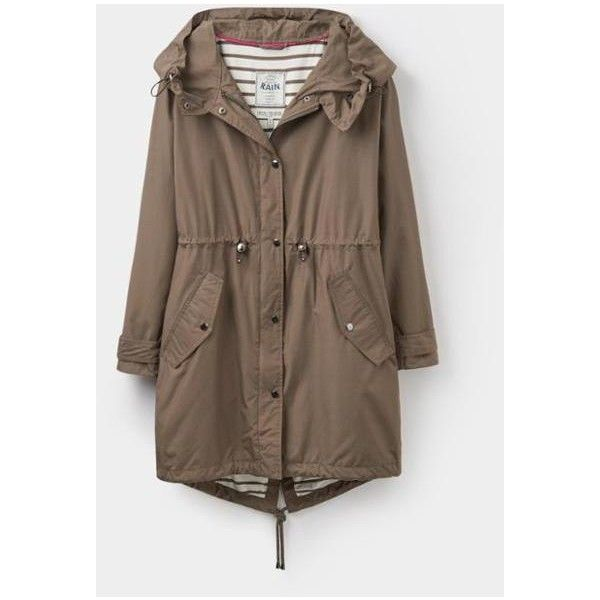 Swithin Wild Mushroom Waterproof Parka-Style Coat | Joules UK ($74) ❤ liked on Polyvore featuring outerwear, coats, parka coat, waterproof parka, brown coat, joules coats and water proof coat
