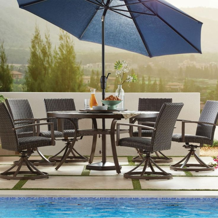 member's mark agio fremont 8piece round dining set in