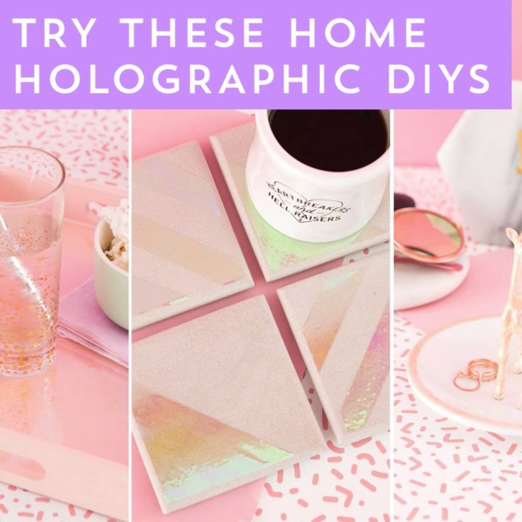 Learn how to '90s-ify your home with these three holographic DIYs in this creative video tutorial.