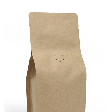8 oz Kraft Box Pouch - Natural Kraft - Foil lined
