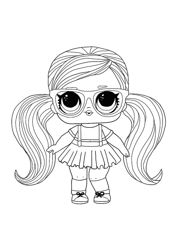Lol Hairvibes Peanut Buttah Coloring Page In 2020 Coloring Pages
