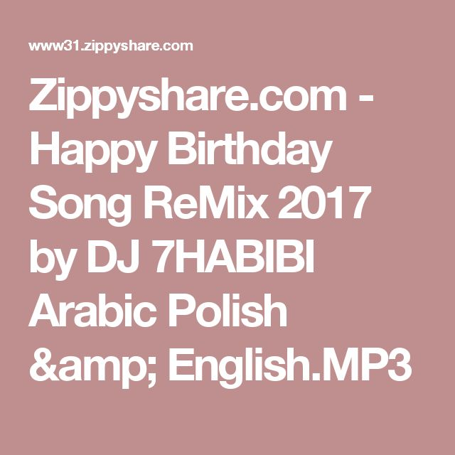 Happy Birthday Song ReMix 2017 By DJ